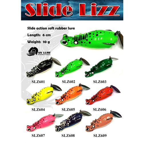 An Lure - Slide Lizz 60 - Floating Hollow Body Frog Bait