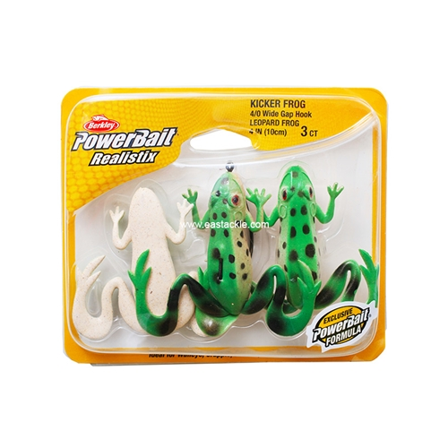 Berkley - PowerBait Realistix Kicker Frog - Soft Plastic Frog Bait | Eastackle