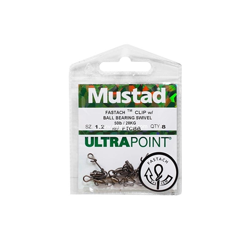 Mustad - Fastach Clip With Ball Bearing Swivel | Eastackle