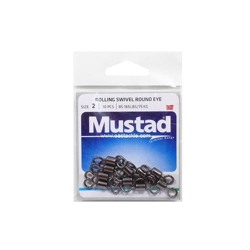 Mustad - Rolling Swivel Round Eye | Eastackle