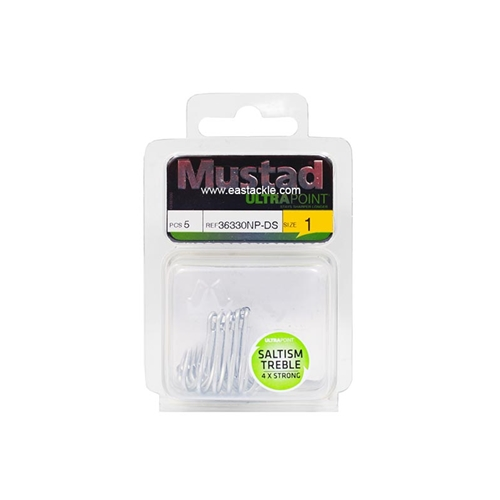 Mustad - Saltism 4X Strong - Treble Hooks | Eastackle