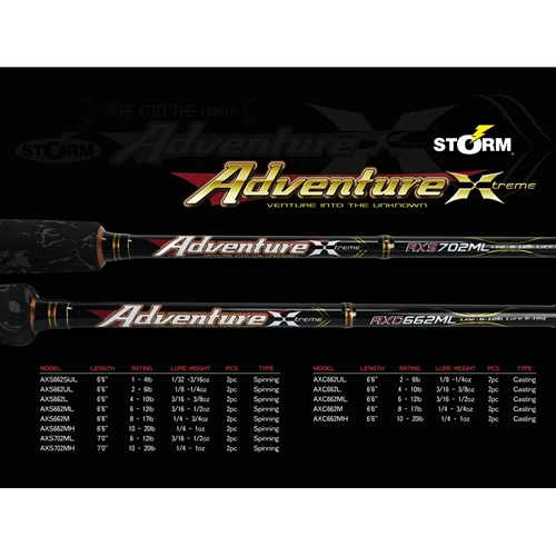Storm - 2019 Adventure Xtreme - Bait Casting Rods | Eastackle