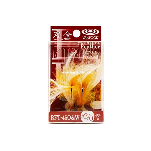 Vanfook - BFT-45O&W - Feathered Treble Hooks