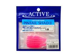 "Active - Pintail Shad II - 1.8"" #4 - KEIMURA PINK - Soft Plastic Jerk Bait 