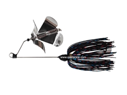 An Lure - PitBull 2J-BO Double Prop Buzz Bait - BLACK - Sinking Wire Bait | Eastackle