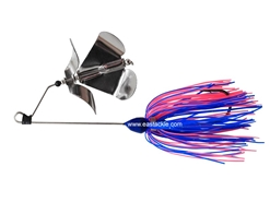 An Lure - PitBull 2J-BO Double Prop Buzz Bait - BLUE - Sinking Wire Bait | Eastackle