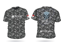 An Lure - PitBull Short Sleeve Fishing Shirt BLACK CAMO - M | Eastackle