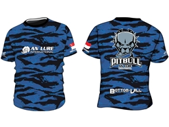 An Lure - PitBull Short Sleeve Fishing Shirt - BLUE CAMO - M | Eastackle