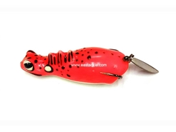 An Lure - Slide Lizz 60 - RED - Floating Hollow Body Frog Bait | Eastackle