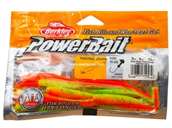 "Berkley - PowerBait Pro Twitchtail 3"" - CHART BLACK FLECK-ORANGE - Soft Plastic Jerk Bait 
