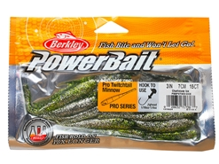 "Berkley - PowerBait Pro Twitchtail 3"" - CHARTREUSE ICE - Soft Plastic Jerk Bait 