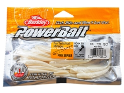 "Berkley - PowerBait Pro Twitchtail 3"" - PEARL WHITE - Soft Plastic Jerk Bait 