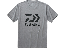 "Daiwa - 2019 ""FEEL ALIVE"" Short Sleeve T-Shirt - DE-83009 - FEATHER GRAY - Men's L Size 