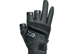 Daiwa - 2019 Light Grip 3 Finger Cut Gloves - DG-75009 - BLACK - M Size | Eastackle