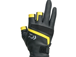 Daiwa - 2019 Light Grip 3 Finger Cut Gloves - DG-75009 - YELLOW - L Size | Eastackle