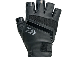 Daiwa - 2019 Light Grip 5 Finger Cut Gloves - DG-76009 - BLACK - M Size | Eastackle