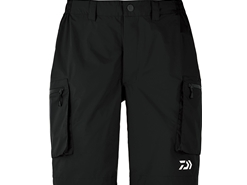 Daiwa - 2019 Water Repellent Dry Half Shorts - DR-51009P - BLACK - Men's L Size | Eastackle