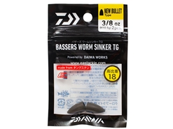 Daiwa - Bassers Worm Sinker TG New Bullet 10.5g - 3/8oz (2pcs) | Eastackle