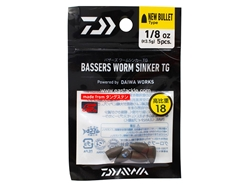 Daiwa - Bassers Worm Sinker TG New Bullet 3.5g - 1/8oz (5pcs) | Eastackle