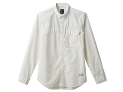 Daiwa - Cordura Long Sleeve Shirt - DE-89008 - WHITE - Men's 3XL Size | Eastackle