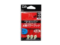 Daiwa - 月下美人 Gekkabijin SW Light Jighead YAJIRI SS Power Hook - 3.0grams #4 - GLOW | Eastackle