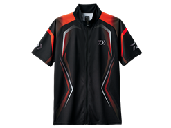 Daiwa - Half Sleeve Mesh Shirt - DE-76008 - BLACK - MEN'S M SIZE | Eastackle