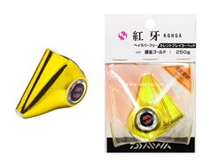 Daiwa - Kohga Bay Rubber Free Current Breaker Head 250grams - PLATED GOLD - Tai-Rubber Jighead