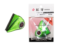Daiwa - Kohga Bay Rubber Free Current Breaker Head 300grams - HOLO GREEN - Tai-Rubber Jighead