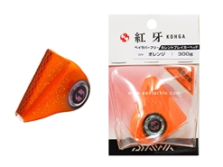 Daiwa - Kohga Bay Rubber Free Current Breaker Head 300grams - ORANGE - Tai-Rubber Jighead