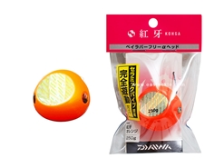 Daiwa - Kohga Bay Rubber Free Head Alpha 250grams - RED FANG ORANGE - Tai-Rubber Jighead