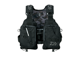 Daiwa - Light Wading Game Vest - DF-6406 JET BLACK - Free Size | Eastackle