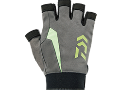 Daiwa - Nano-Front Padded Five Finger Cut Gloves - DG-61008 - GREY - XL SIZE | Eastackle