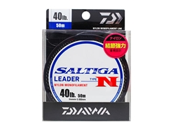 Daiwa - Saltiga Leader Type N (40lbs) - 50m - Nylon Monofilament | Eastackle