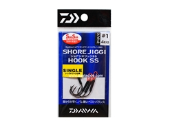 Daiwa - Shore Jiggi Hook - SS - S - #1 - Short Shank Single Assist Light Game Jigging Hook | Eastackle