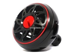 Daiwa - SLP Works Round Aluminium Knob - LARGE - BLACK | Eastackle