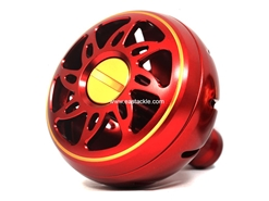 Daiwa - SLP Works Round Aluminium Knob - LARGE - RED | Eastackle