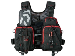 Daiwa - Wading Game Vest - DF-6206 BLACK RED - Free Size | Eastackle