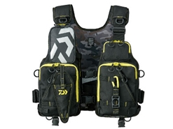 Daiwa - Wading Game Vest - DF-6206 BLACK YELLOW - Free Size | Eastackle