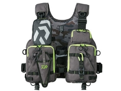 Daiwa - Wading Game Vest - DF-6206 - GREY LIME - Free Size | Eastackle