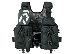 Daiwa - Wading Game Vest - DF-6206 - JET BLACK - Free Size | Eastackle