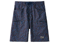 Daiwa - Water Repellent Dry Half Shorts - DP-8606 - BLUE MIRROR - MEN'S 3XL SIZE | Eastackle