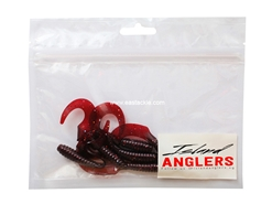 "Island Anglers - Grumpy Grub 3"" - RED RED WINE - Soft Plastic Swim Bait 