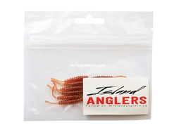 "Island Anglers - Ribbed Straight Tail 1.6"" - COPPER BROWN - Soft Plastic Swim Bait 