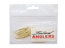 "Island Anglers - Ribbed Straight Tail 1.6"" - OFF WHITE - Soft Plastic Swim Bait 