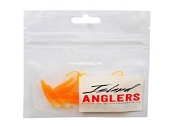 "Island Anglers - Ribbed Straight Tail 1.6"" - SALTED EGG - Soft Plastic Swim Bait 