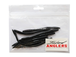 "Island Anglers - Wiggle Worm 4.5"" - BLACK GOLD - Soft Plastic Worm Bait 