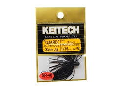 Keitech - Guard Spin Jig - BLACK 001 (1/16oz) - Tungsten Skirted Jig Head | Eastackle