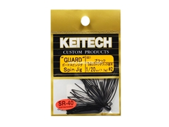 Keitech - Guard Spin Jig - BLACK 001 (1/20oz) - Tungsten Skirted Jig Head | Eastackle