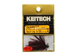 Keitech - Guard Spin Jig - COLA 006 (1/20oz) - Tungsten Skirted Jig Head | Eastackle