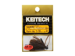 Keitech - Guard Spin Jig - DARK GREEN PUMPKIN PP 105 (1/20oz) - Tungsten Skirted Jig Head | Eastackle